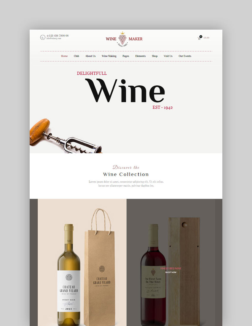 Wine Maker - Winery WordPress Theme