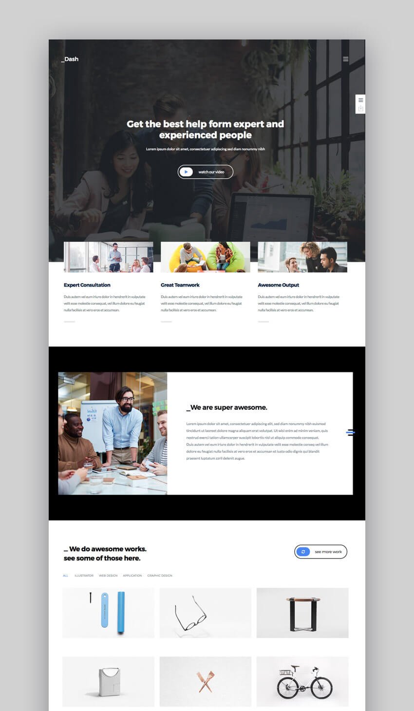Dash - Professional WordPress Theme for Small Business Sites