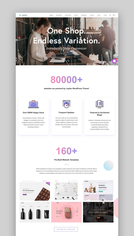Jupiter - Fast WordPress Theme For Small Business Websites