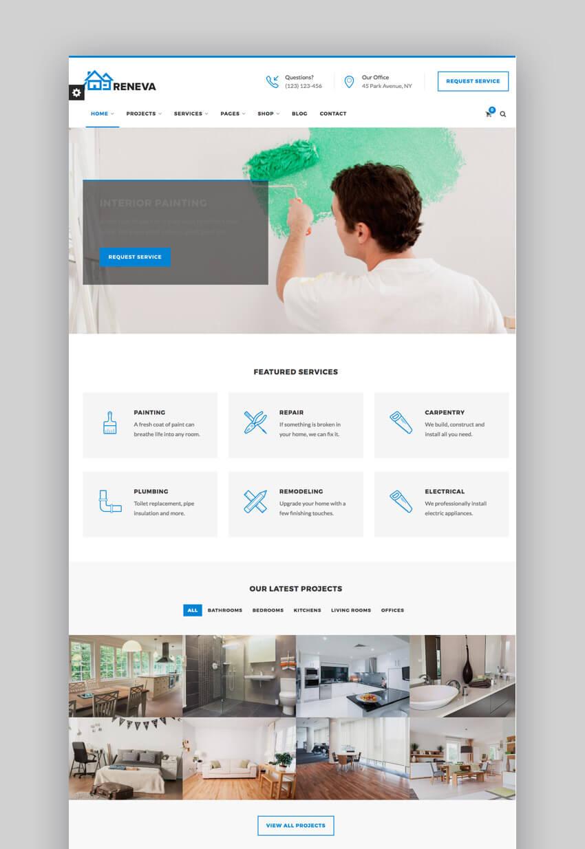 Reneva - Intuitive Small Business WordPress Theme