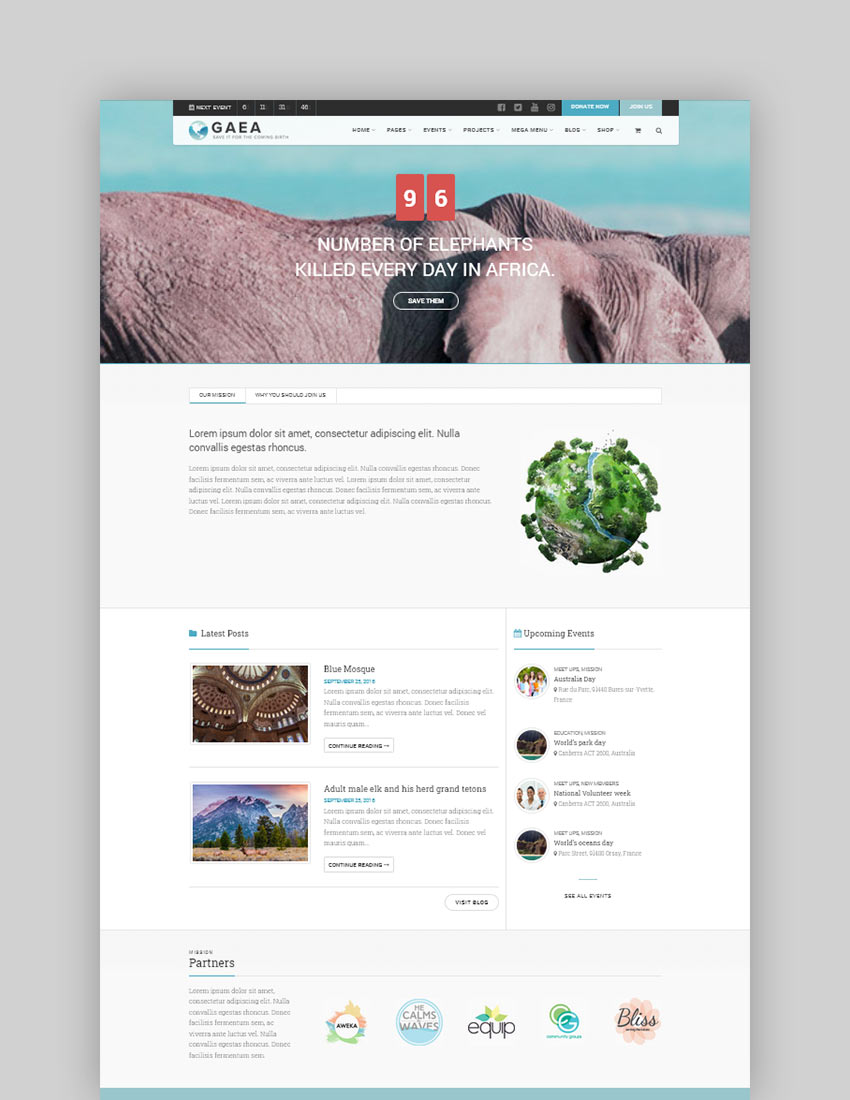 Gaea - Environmental WordPress Theme