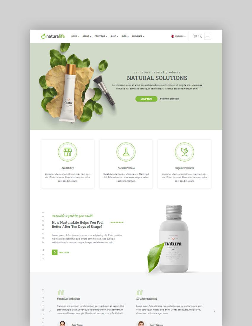 NaturaLife  Health  Organic WordPress Theme