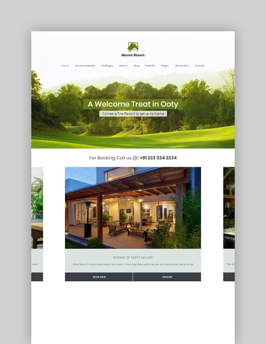 Mount Resort  Hotel WordPress