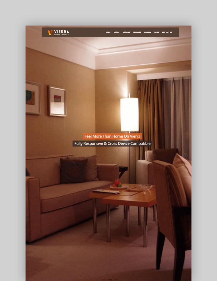 Vierra - Hotel Resort Inn  Booking WordPress Theme