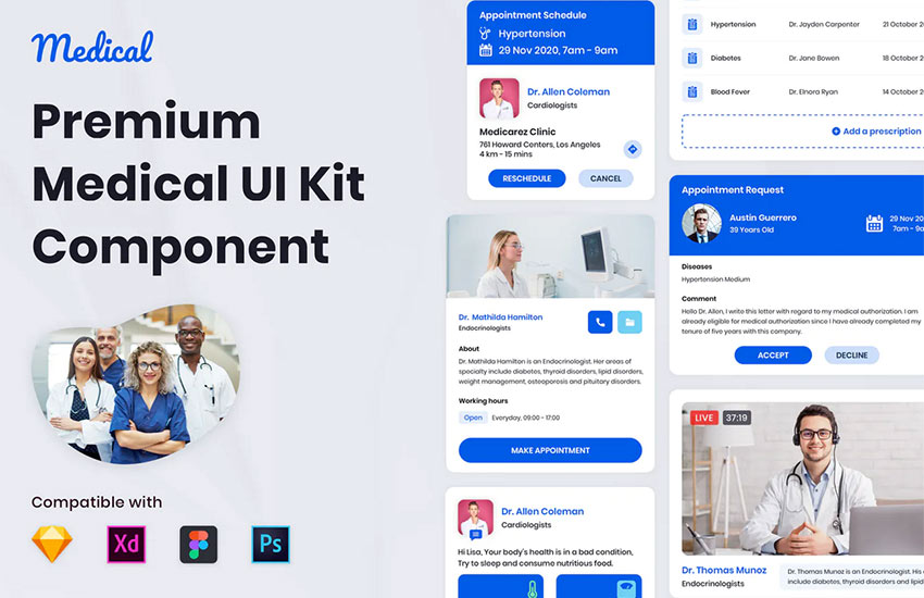 Nuzie - Medical Ui Kits