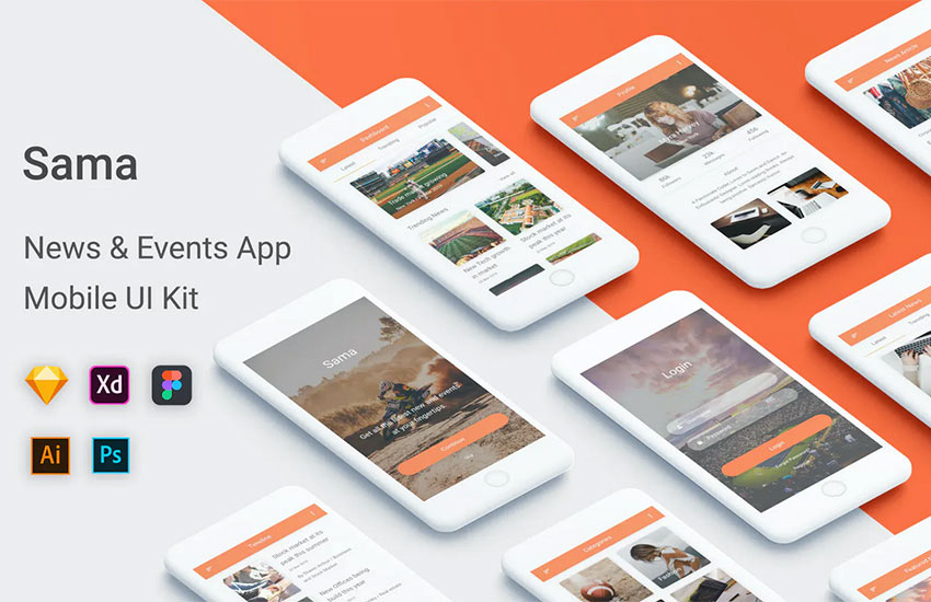 Sama - News  Events UI Kit