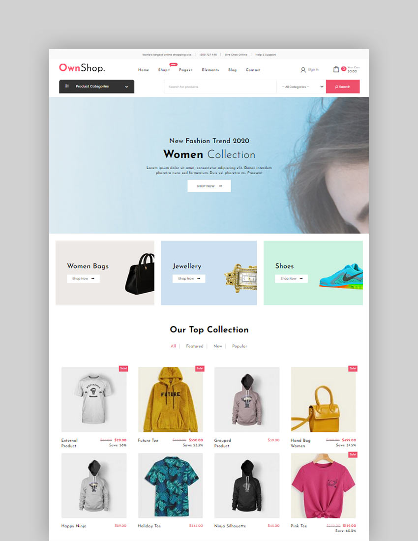 Own Shop Free WordPress Theme