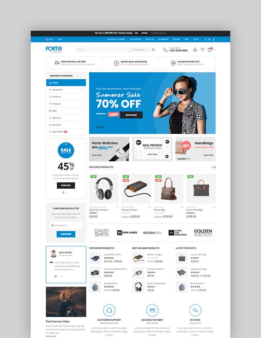 Porto Multipurpose WooCommerce Theme