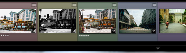 Five color labels in Lightroom