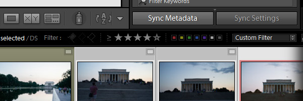 The Sync Metadata option in Lightroom
