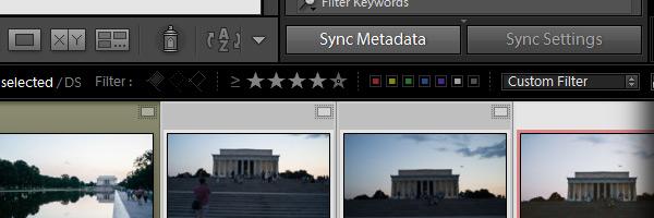 The Sync Metadata option in Lightroom