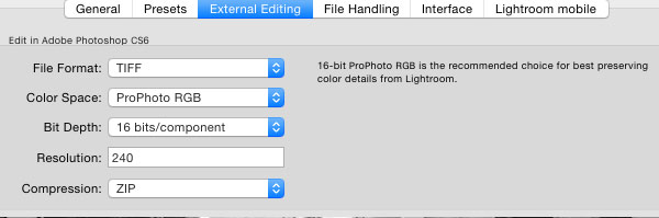 Lightroom external editing settings edit in section