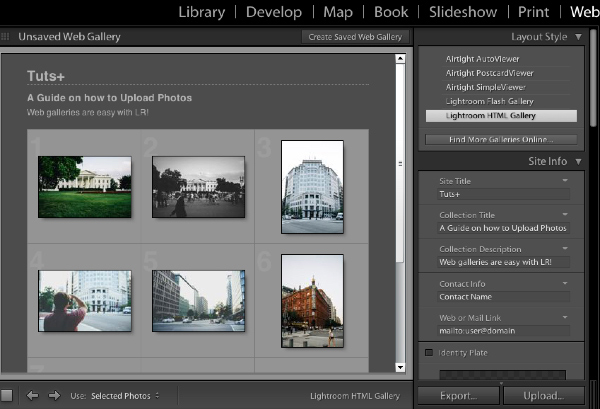 Lightroom Web Gallery