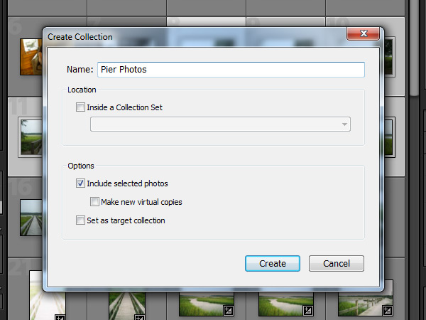 Create Collection Button