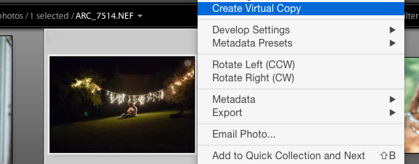 Create virtual copy