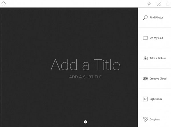 Adobe Slate Image Sources