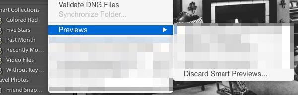 Discard Smart Previews