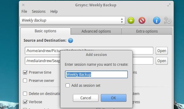 Grsync-session