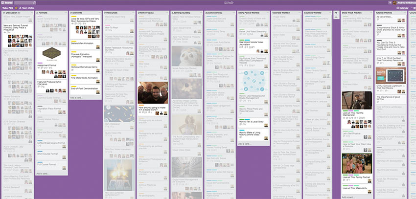 Tuts Photo Video Section Trello Board