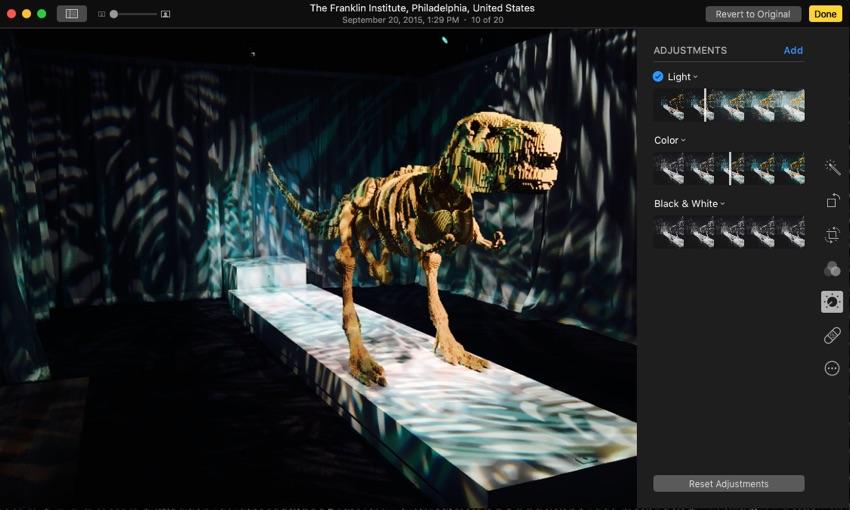 Photos Edit Interface