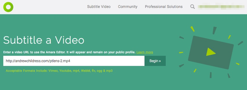 3 ways to subtitle and caption your videos automatically using amara link to video ccuart Gallery