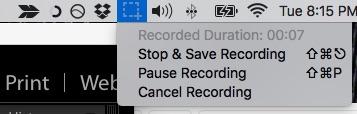 Screencast stop icon