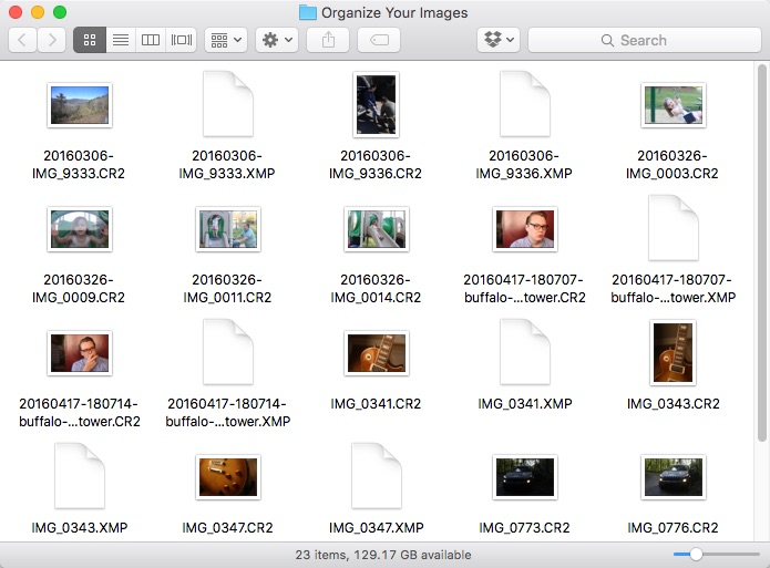 A Disorganized Folder of Images