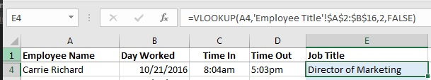 Troubleshooting Example of Excel VLOOKUP not working