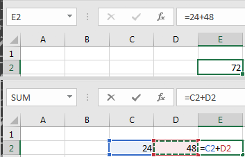 Add Formulas Excel