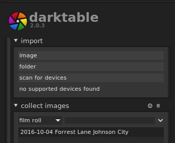 Darktable import types