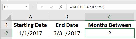 Datedif Months