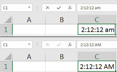 More specific time format in Excel