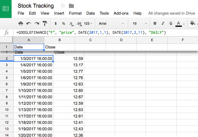 How to Track Stock Data in Google Sheets - With