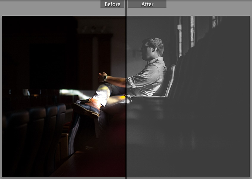 Mono Fade Lightroom Preset