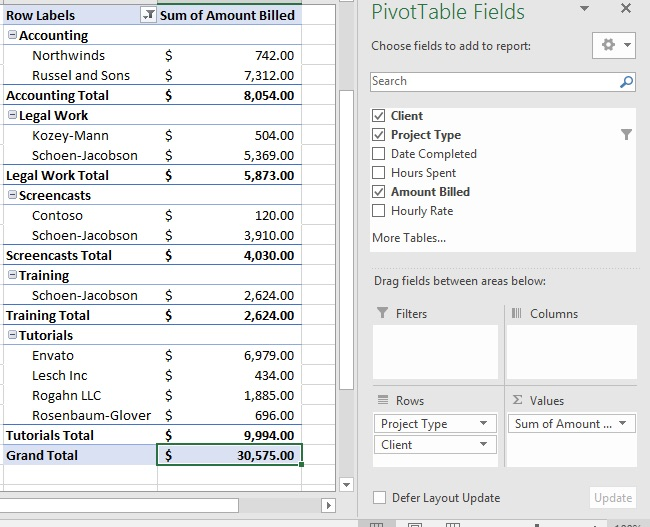 how to create a pivottable in excel