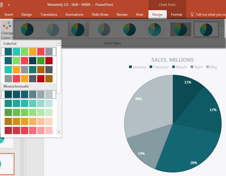 Bagaimana membuat grafik yang bagus dalam microsoft powerpoint change colors powerpoint ribbon kamu dapat mengubah warna ccuart Images