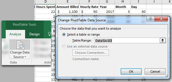 Change Data Source in Your Excel PivotTable