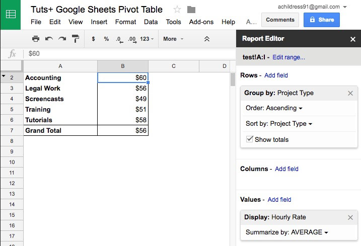 How to use pivot tables in google sheets ultimate guide for Table header th