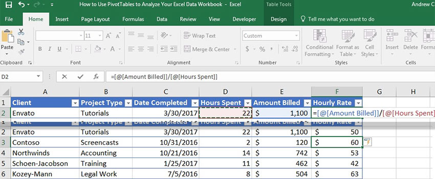 How To Make & Use Tables In Microsoft Excel (Like a Pro)