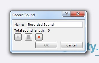 Record sound in PowerPoint