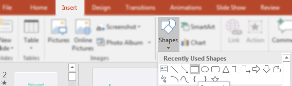 Insert Shape in PowerPoint