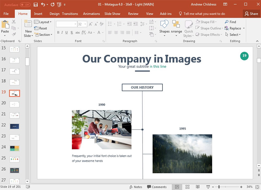 Image TImeline in PowerPoint