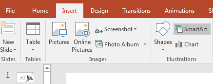 Insert SmartArt in PowerPoint