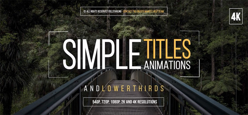 30 Simple After Effects Titles
