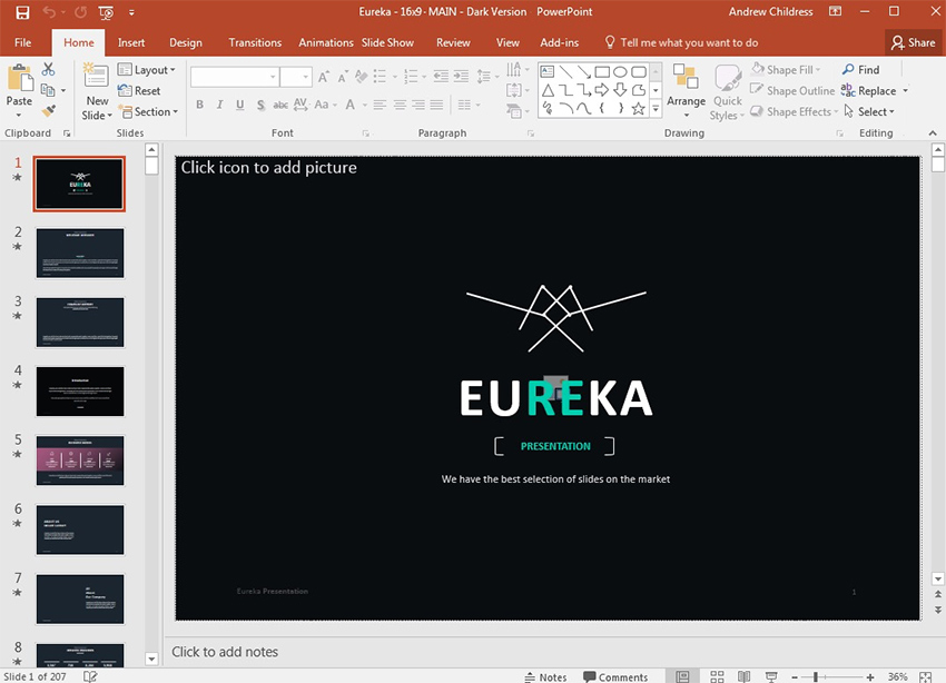 Eureka Creative PowerPoint Presentation Theme