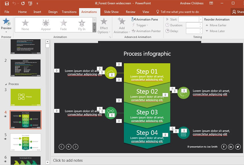 PowerPoint i9 Theme example Slide