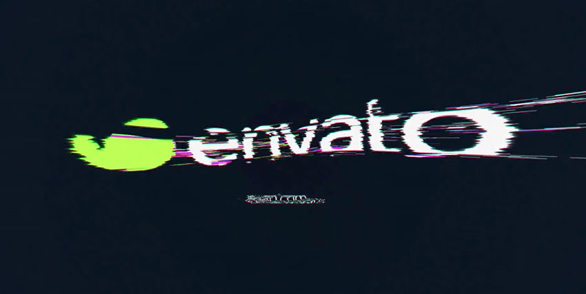 Glitch Logo Example