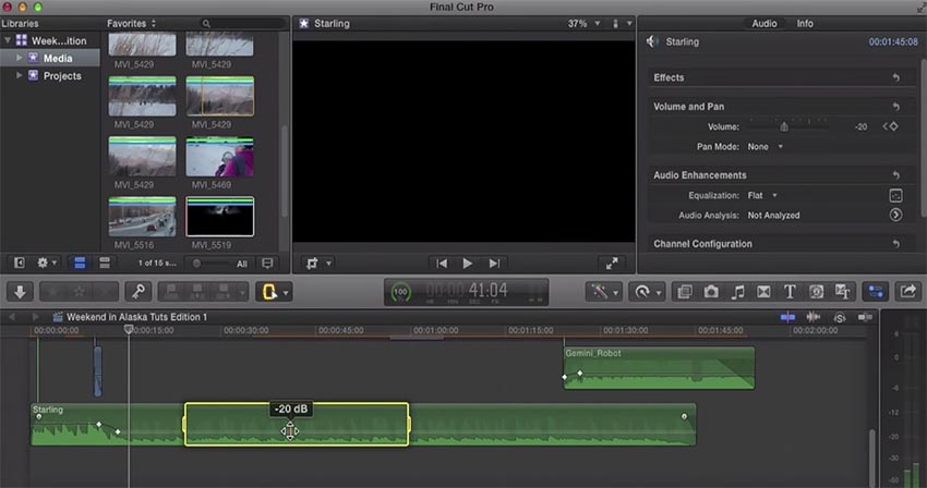 Audio and Music in Final Cut Pro X: How to Import and Adjust