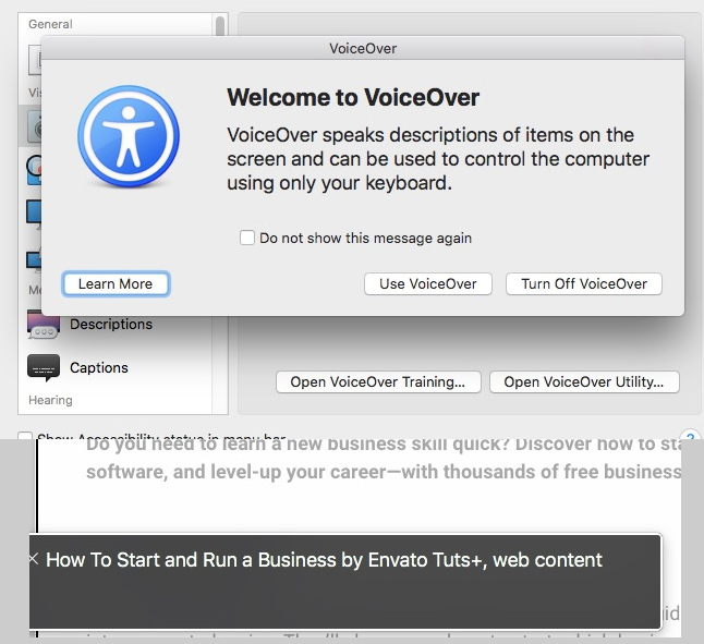 Voiceover for Mac