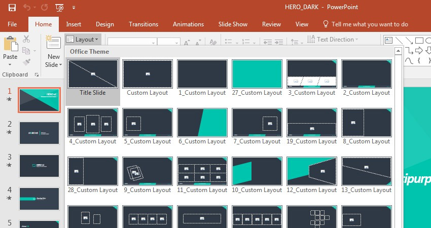 how to edit powerpoint slide template layouts quickly